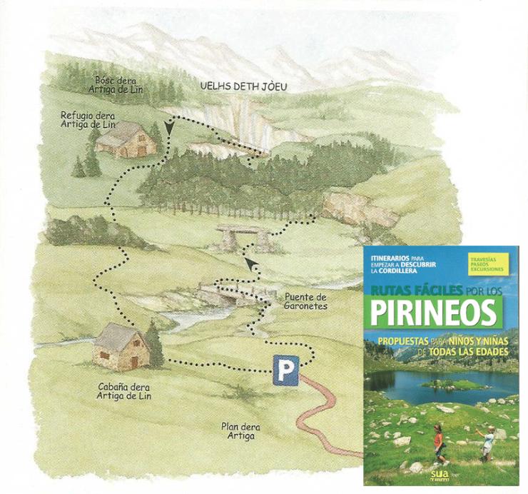 """Artiga de Lin """"Rutas fáciles por los Pirineos"""" Sua edizioak"""