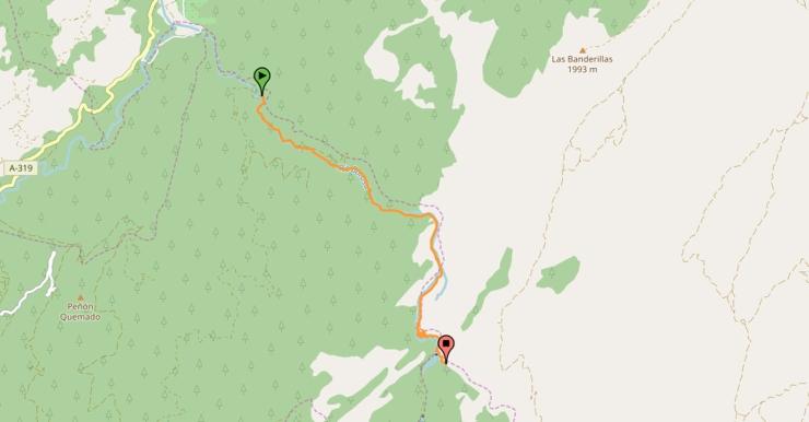 ruta nacimiento del rio Borosa